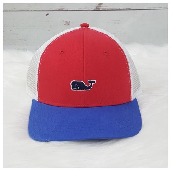 54f0ac391b172 Vineyard Vines Trucker Hat Red White Blue OS
